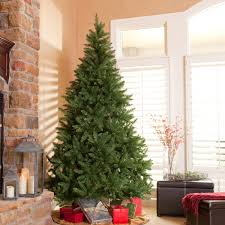7ft Artificial Christmas Tree by Classic Pine Full Pre Lit Christmas Tree Hayneedle