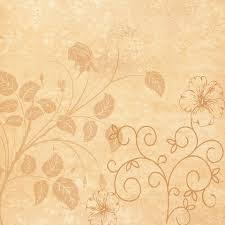 Click To See Printable Version Of Vintage Floral Scrapbook Paper Design Craft