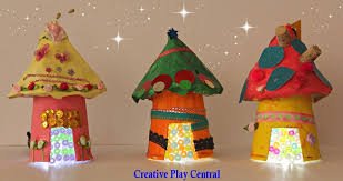 Picture 251 Miniature Houses With Beads In Glue For Door STARS