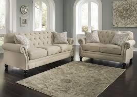 Higdon Furniture Kieran Natural Sofa and Loveseat