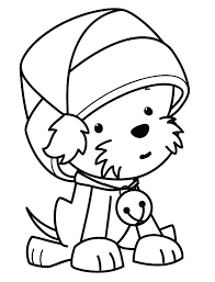 Cute Christmas Coloring Sheets Puppy Pages Reindeer