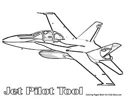 Download Coloring Pages Planes Ferocious Fighter Jet Free