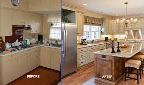 Before And After Reface Or Replace Kitchen Cabinets Klamco