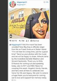 the big ang mural unveiling in staten island watch the show