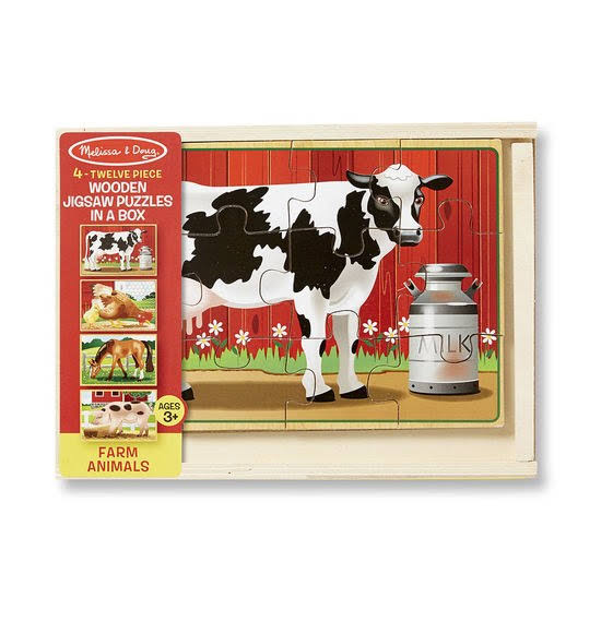 Melissa & Doug Farm Puzzles in a Box - 4 Pack