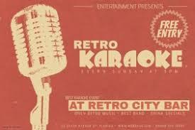 Landscape Retro Music Karaoke Night Event Flyer Template