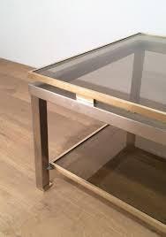 coffee table granite top coffee table wood metal side table smoked