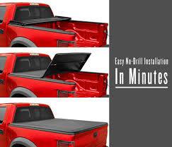 MaxMate Tri-Fold Truck Bed Tonneau Cover Works With 2016-2018 Toyota ... Oedro Trifold Truck Bed Tonneau Cover Compatible 62018 Toyota Tacoma Extang Encore Access Plus Great Gator Soft Trifold Dna Motoring For 0717 8 Vinyl Folding On Red Diamondback Bak Industries Fibermax Tonneau Cover Installed This Beautiful Undcover Flex Hard 891996 Slant Side Sst 206050 Bakflip Mx4 448427 2016 Lund Genesis 2005 To 2014 Cover95085 Covers G2 Autoeqca Cadian