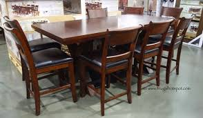 Comes With 2 Removable Leaves Hillsdale Furniture 9 Piece Counter Height Dining Set Costco FrugalHotspot