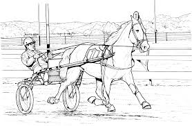 Coloring Pages Of Horses Barrel Racing