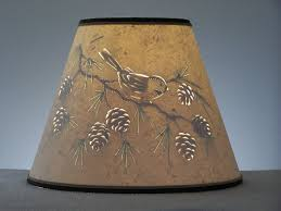 Large Punched Tin Lamp Shades by Pine Cone U0026 Chickadee Lamp Shade Clip On Lamp Shade Pine