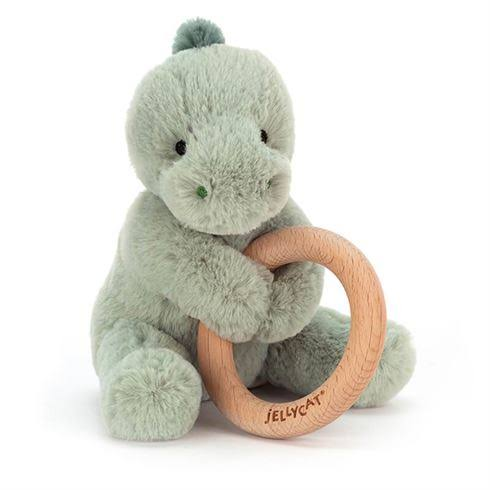 Jellycat Shooshu Dino Ring Toy