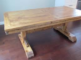 DIY Custom Distressed Farmhouse Dining Table With Double Pedestal For Rustic Room Spaces Ideas