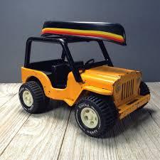 100 Vintage Tonka Truck Jeep Canoe 6 Orange Yellow Jeep 4x4 Mini