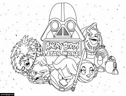 Angry Birds Star Wars Characters Printable Coloring Pages
