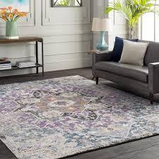 bungalow rose fonteyne purple teal area rug reviews wayfair