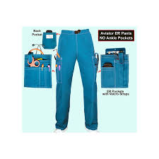 Ceil Blue Scrub Sets by Aviator Scrubs Scrubs With Patented Pockets And Features