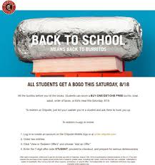 Chipotle Coupons - Students Enjoy Second Burrito Or Bowl Free ... This New Chipotle Rewards Program Will Get You The Free Guac Gift Card Promotion Toddler Lunch Box Ideas Daycare Teacher Appreciation Week Deals 2018 Chipotle Wii U Coupons Best Buy Discounts Offers Rebelcard University Of Nevada Las Vegas Mexican Grill Posts Facebook Clever Trick Can Save You Money On Wikibuy Sms Autoresponder Example Rain Check Lunch Tatango Chipotles Burrito Coupon Uses Save To Android Pay Button Allheart Code Archives Wish Promo Code Smoky Chicken In The Crockpot Money Saving Mom Pin By Nick Good Print Ads I Like How To A For 3