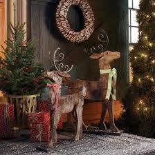 CHRISTMAS REINDEER RUSTIC VINTAGE LARGE FIREPLACE DECORATION BARNWOOD