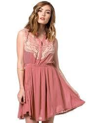 womens pink lace dress
