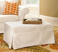 Pottery Barn Charleston Couch Slipcovers by Charleston Slipcovered Ottoman Pottery Barn