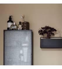 ferm living vorratsbehälter bendum brauner marmor ø8 8x10 8cm