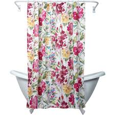 Curtain Rod Set India by Zenna Home India Ink Watercolor Floral Shower Curtain Multi