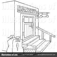 Royalty Free RF Bakery Clipart Illustration by dero