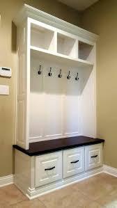 Coat Rack With Bench Seat Mudroom Lockers Storage Furniture Hall