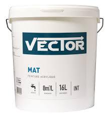 peinture vector mat 16l peinture blanche travaux courants pour