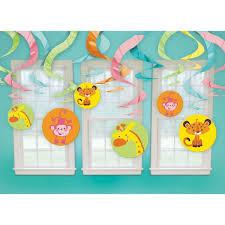 Amazoncom Animals Of The Rainforest Baby Shower Swirl Decoration