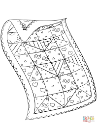 Quilt Coloring Pages For Kids