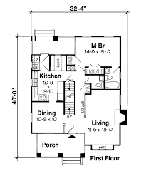 Craftsman Style Floor Plans Bungalow by First Floor Plan Of Bungalow Craftsman House Plan 24242 House
