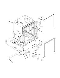 Tub Overflow Gasket Diagram by Kenmore Elite Dishwasher Parts Model 66512773k310 Sears