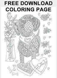 FREE I Love Dachshunds Coloring Page Download