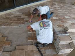 paver and travertine pool decks and driveways by the kc 941