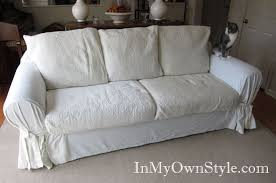 Collection Of Studio Day Sofa Slipcovers by How To Cover A Chair Or Sofa With A Loose Fit Slipcover In My