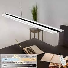 zmh led pendelleuchte hängele esszimmer 38w dimmbar mit fernbedienung höhenverstellbar für arbeitszimmer wohnzimmer