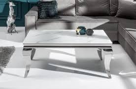 casa padrino designer couchtisch weiß grau silber 100 x 60 x h 45 cm rechteckiger edelstahl wohnzimmertisch mit digitalbedrucktem