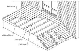 conseils de pose terrasse fiberon avec lambourdes sur dalle béton