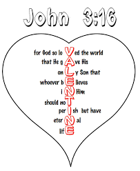 Printable John 316 Valentine Heart