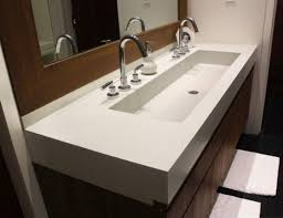 Trough Bathroom Sink With Two Faucets Canada by Trendy Design Long Bathroom Sink Sinks Marvellous Trough With Two