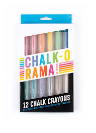Amazon.com: OOLY, Chalk-O-Rama, Set Of 12 Chalk Crayons: LLC Ooly ...