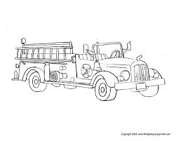 Hook And Ladder Fire Truck Coloring Pages