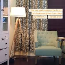 Surveyor Style Floor Lamps by Brightech Emma Led Tripod Floor Lamp Modern Design Wood Mid
