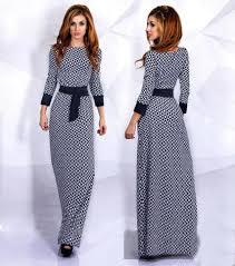 new design style women muslim long sleeve dresses trendy printing