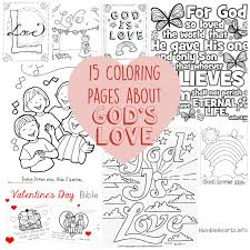 15 Coloring Pages About Gods Love