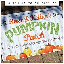 Pumpkin Patch Caledonia Il For Sale by Pumpkin Patch Sign Printed Pumpkin Sign Pumpkin Party Decor