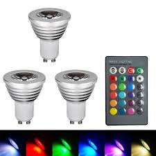 gu10 rgb color changing led light bulb l with remote