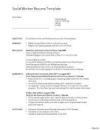 Social Work Resume Templates Worker Template Download Free Curriculum Vitae Format